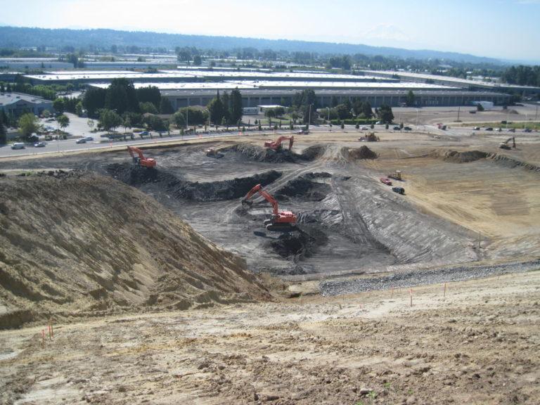 Land development in progress